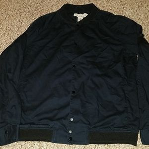 Navy blue button up jacket